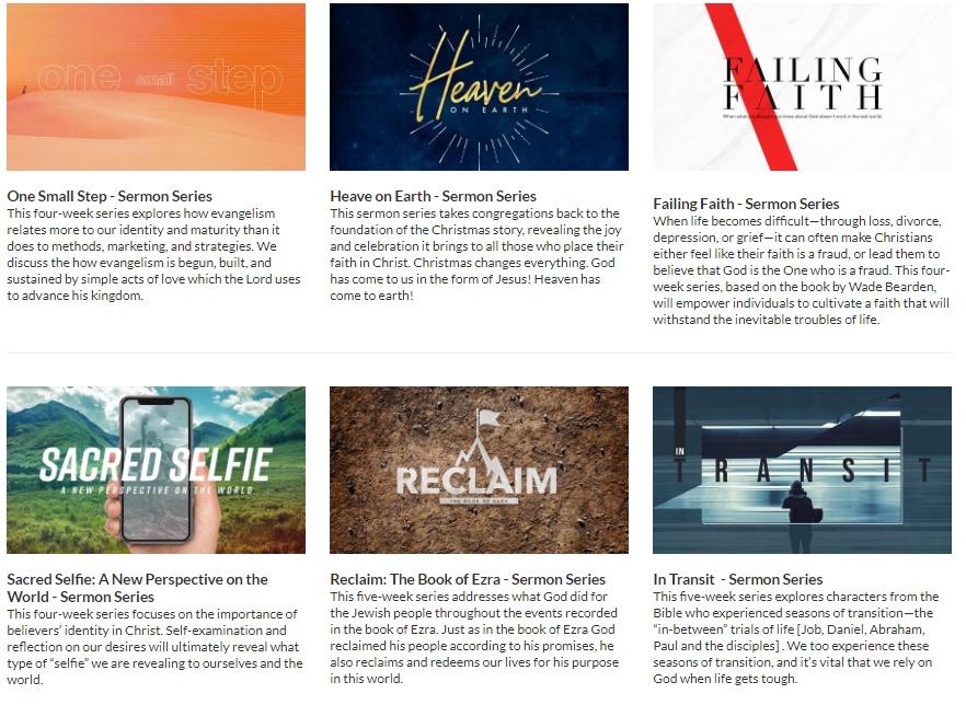 12 Sermon Series, 6 Illustration Packs, 15 Event Graphics